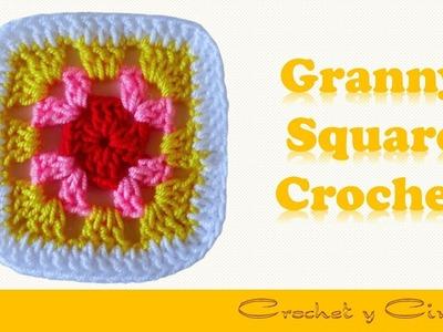 Cómo hacer Granny Square a crochet ♥ Cómo unir Granny Square