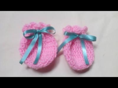 Como Hacer Mitones Para Bebe en Crochet ♥ Damary ♥