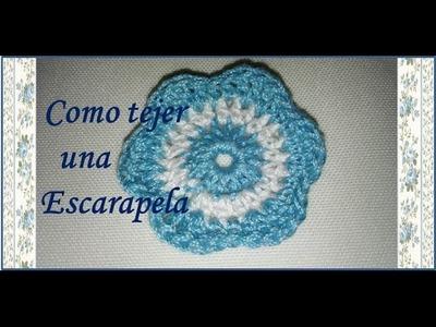 ♥ Como hacer una escarapela a crochet ♥