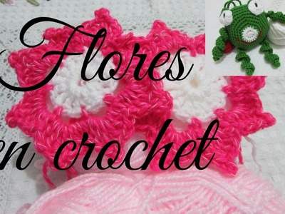 Como tejer flores en crochet. Nº 1.- UNO.-