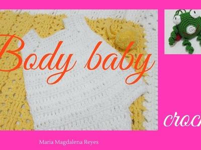 Como tejer un body de bebè. Completo.( 1 )