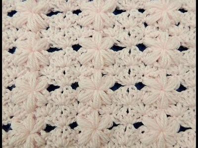 Crochet: Punto Flor Puff # 3 para mantas