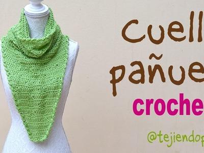 Cuello pañuelo tejido a crochet Tejiendo Perú