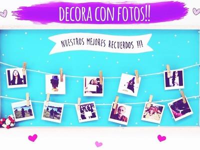DIY-CUADRO DECORATIVO CON FOTOS!♥
