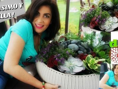DIY MACETA CON FUENTE DE AGUA | ideas faciles para decorar el jardin o patio
