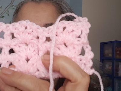 ???? En Vivo:  Aprenda el Punto conchas con postes en crochet
