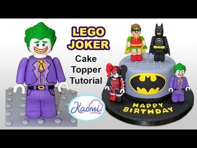 How to make Lego Joker (Cake Topper). Cómo hacer a Guasón de Lego para tortas