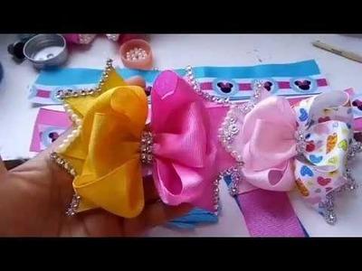 Moño Boutique Doble Color. Boutique Bows.tutoriales.manualidades.Crafts.DIY.creaciones.tutorials