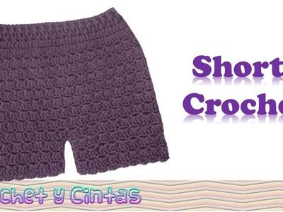 Pantalón corto – Bermuda – shorts tejidos a crochet