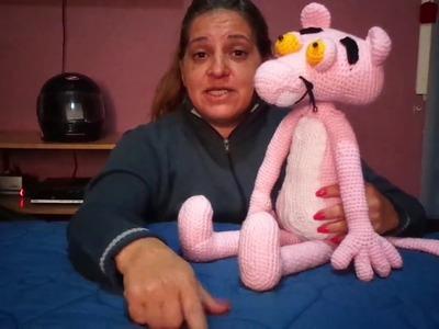 Pantera Rosa al crochet. quinta y última parte: cuerpo-relleno-costura y acabado