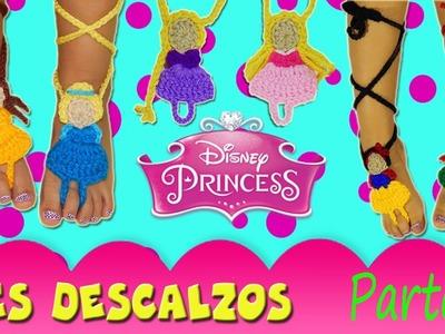 Pies descalzos de Princesas Tejidos a Crochet | Parte 1.2