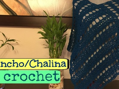 Poncho.Chalina Tejido a Crochet.Ganchillo
