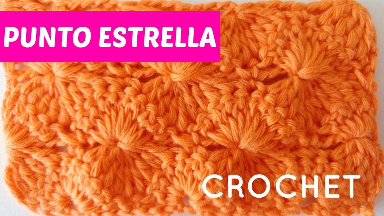 Tejer pap noel a crochet paso a paso parte 1 - Esquema punto estrella crochet ...