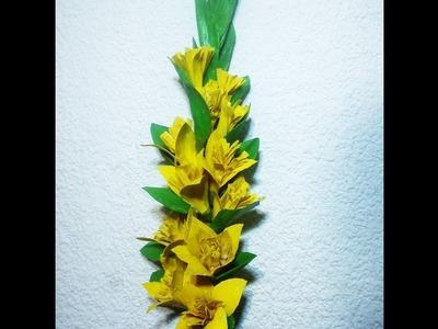 Rama de gladiolos de hojas de maíz. DIY
