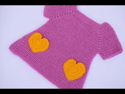 Vestido de ganchillo o crochet niña muy fácil y rapido 1ªparte
