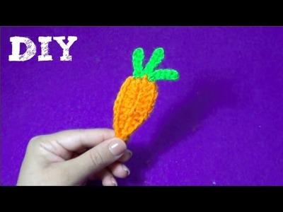 Zanahoria Tejida a crochet - Aplique!!!