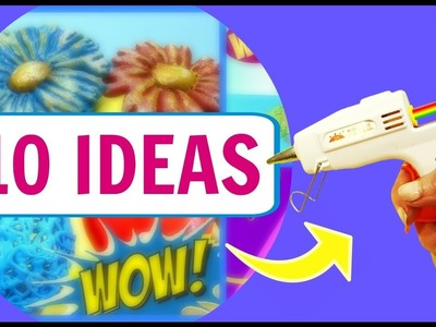10 IDEAS CON SILICONA CALIENTE. MANUALIDADES FÁCILES. VIDEO SATISFACTORIO