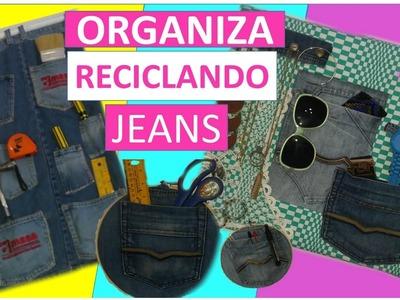 3 Ideas Creativas Para Reciclar Jeans y ORGANIZAR! (MANUALIDADES CON RECICLAJE)