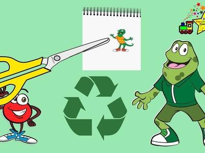 Atención Atención este juego va a empezar con manualidades reciclando plastico y dibujando all Sapo