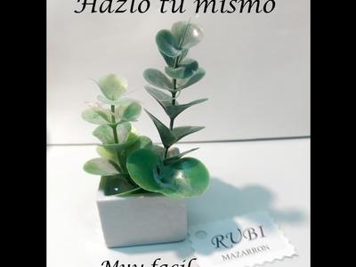 Como hacer mini cactus de moda decoracion manualidades