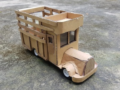 Cómo hacer un camión con cartón en casa - DIY hacer un camión clásico de edad
