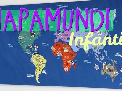 ¿Cómo hacer un Mapamundi infantil? Manualidades del mundo