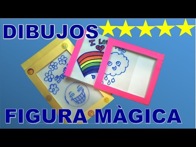 DIBUJOS |  MANUALIDADES FACILES DE DIBUJOS  | FIGURA MAGICA
