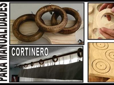 DIY. CÓMO HACER AROS DE MADERA. para decorar, manualidades, cortineros o proyectos. WOODWORK