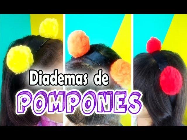 DIY DIADEMAS DE POMPONES FACILES Y BONITAS ♥Manualidades Paso a Paso♥