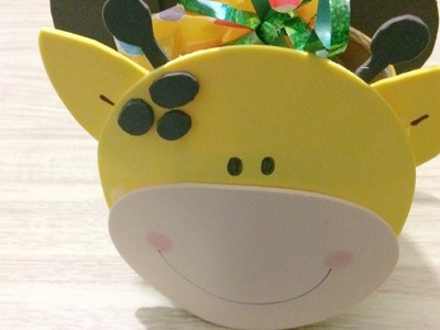 DIY: Dulcero Chango.jirafa. día del niño. Foamy