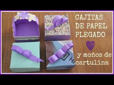 HOLAAA!!! YA REGRESAMOS!! Cómo hacer cajitas plegadas y moños de papel - DIY - Tutorial