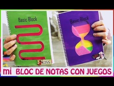 Manualidades fáciles para hacer en casa, decora cuadernos (libretas) con dos juegos divertidos.
