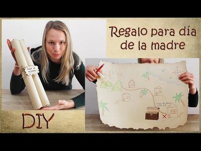 Manualidades para niños - Mapa del tesoro para el día de la madre. ideas para el día de la madre