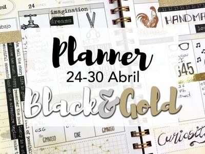 Mi planner en Black and Gold - Semana Handmade Festival BCN