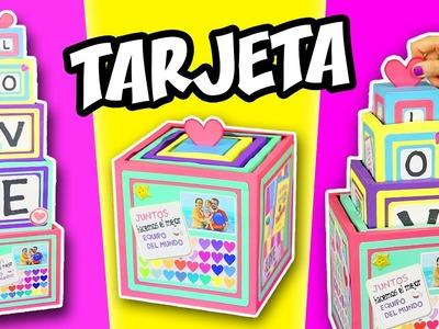 TARJETA TORRE DE CUBOS con Mensajes y Fotos - Regalo Original | Manualidades aPasos