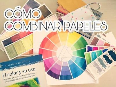 Cómo combinar papeles según la teoría del color (2ª parte)| Scrapbooking para principiantes.