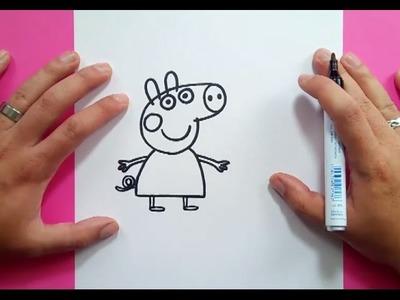 Como dibujar a Peppa Pig paso a paso - Peppa Pig | How to draw Peppa Pig - Peppa Pig