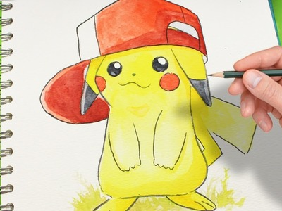 COMO DIBUJAR A PIKACHU PASO A PASO . how to draw pikachu - de POKEMON