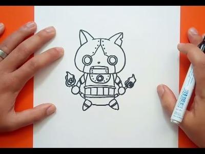 Como dibujar a Robonyan paso a paso - Yo Kai Watch | How to draw Robonyan - Yo Kai Watch