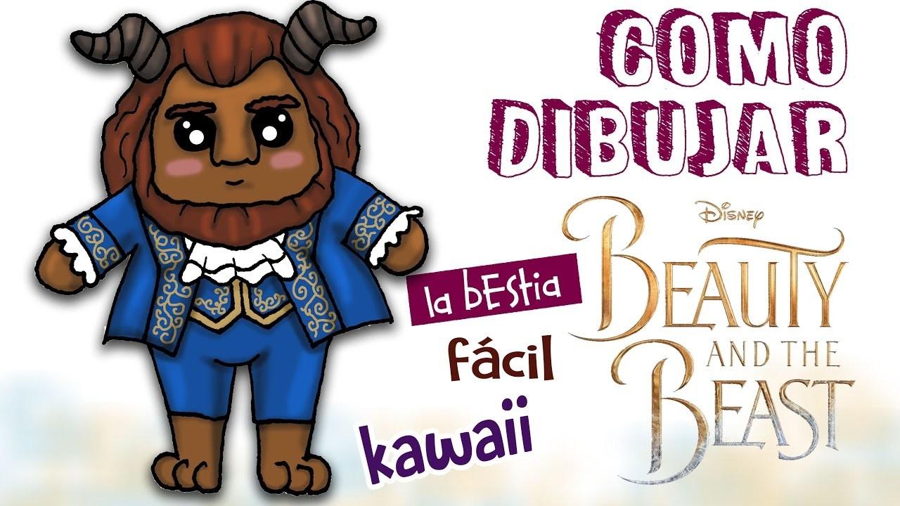 Como dibujar la bestia kawaii. dibujo facil para niños