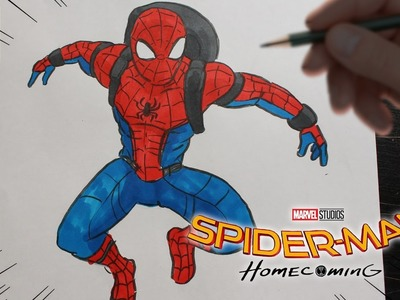 COMO DIBUJAR SPIDERMAN HOMECOMING - HOW TO DRAW SPIDER-MAN HOMECOMING