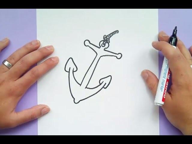 Como dibujar un ancla paso a paso 4 | How to draw a anchor 4