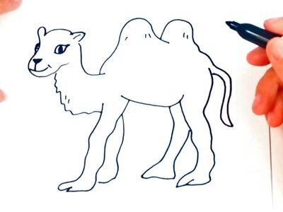 Como dibujar un Camello | Dibujo de Camello paso a paso