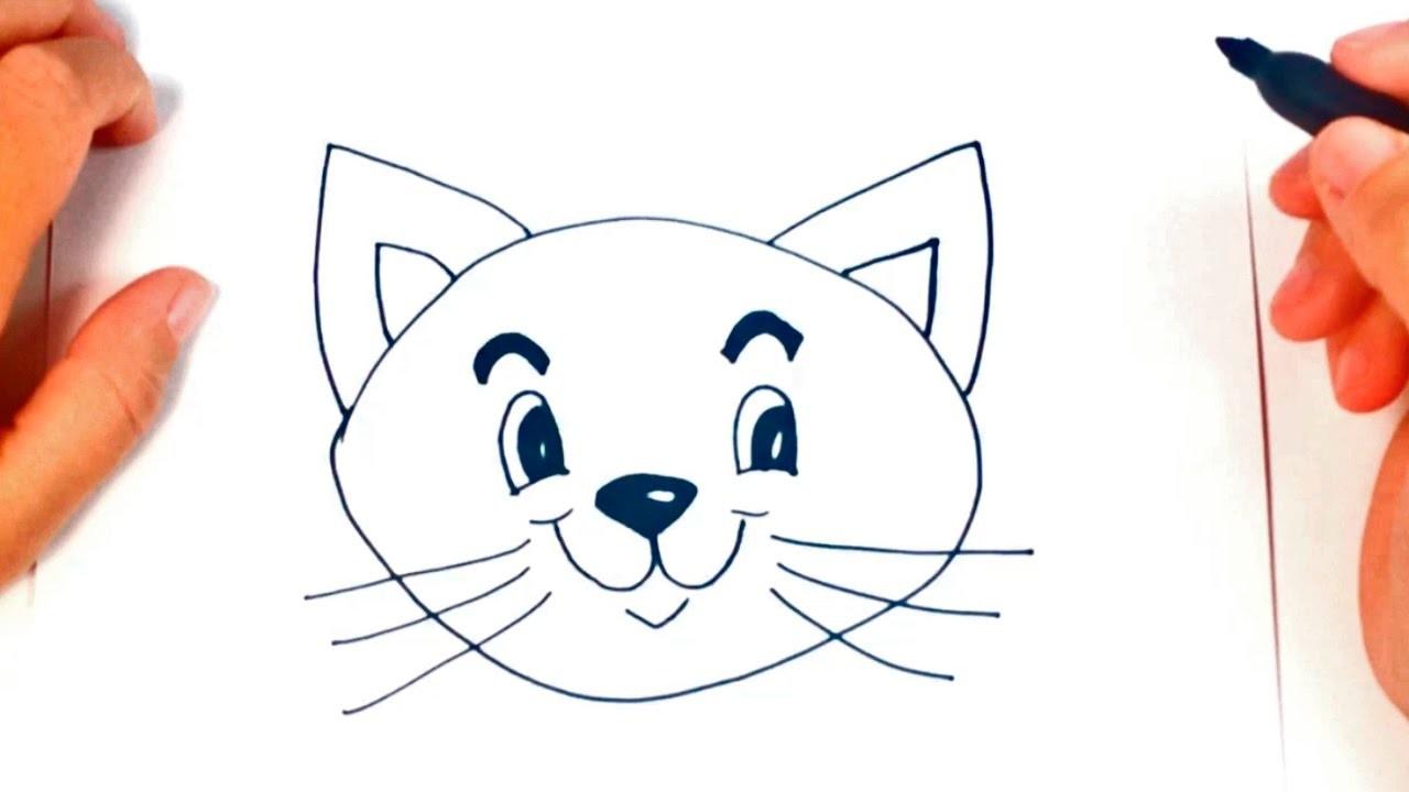 Como Dibujar Un Gatito Paso A Paso, Dibujo Facil De Gatito