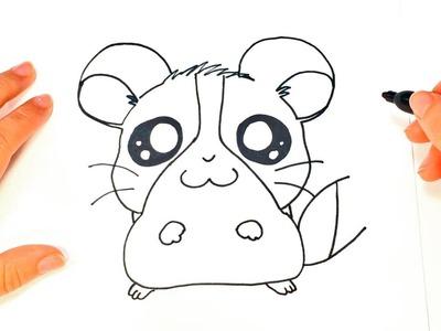 Como dibujar un Hamster Kawaii paso a paso