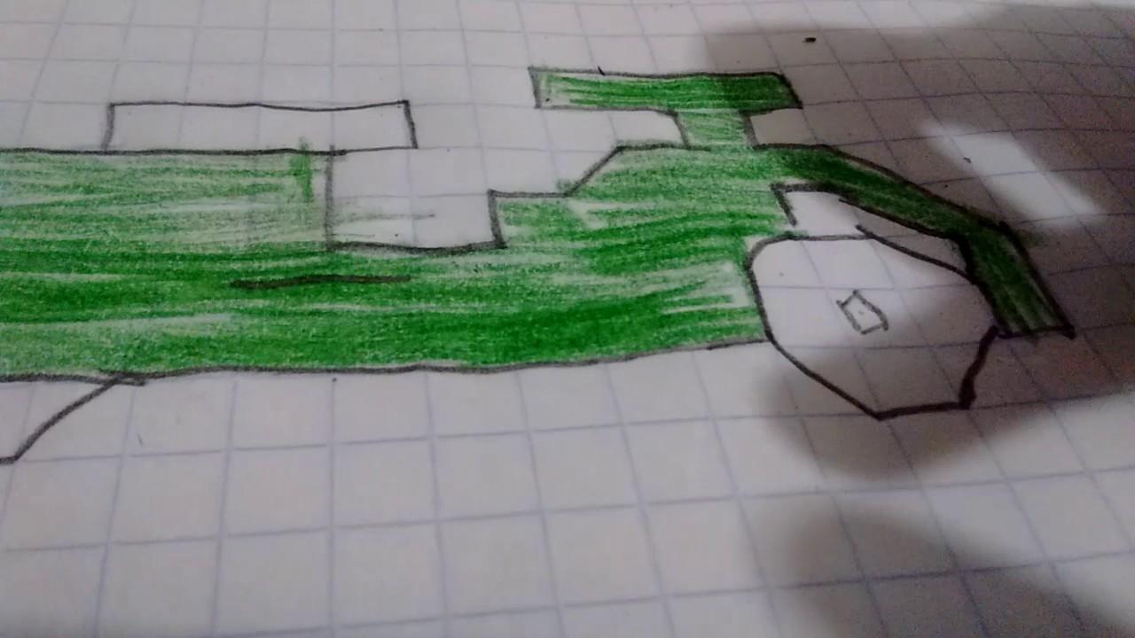 Como dibujar una moto en cuadricula