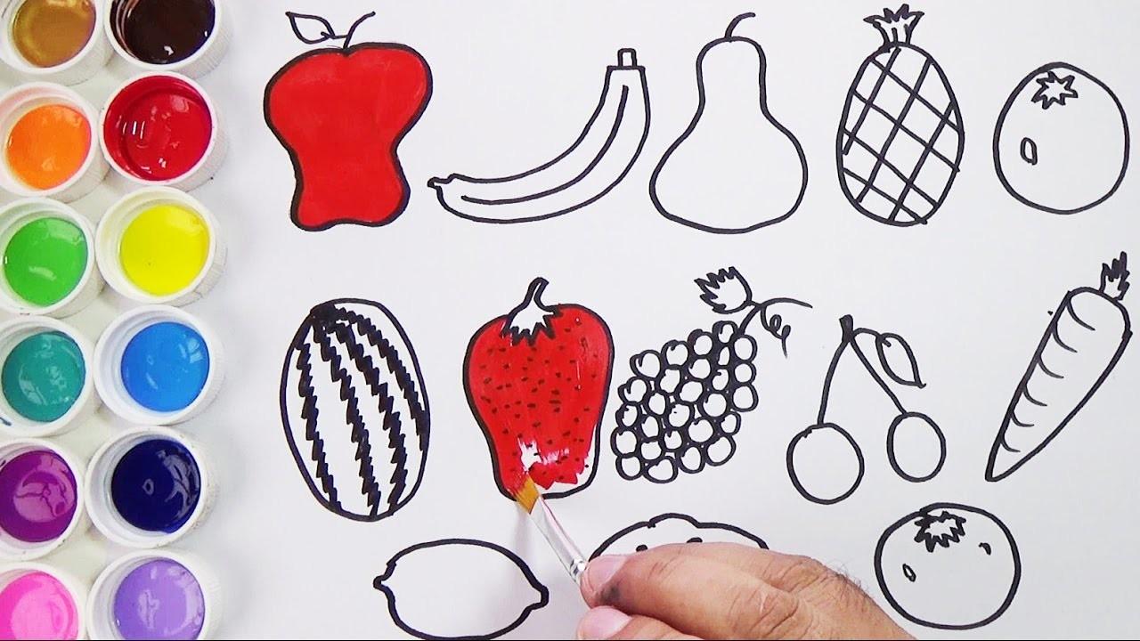 Como Dibujar Y Colorear Frutas Y Vegetales