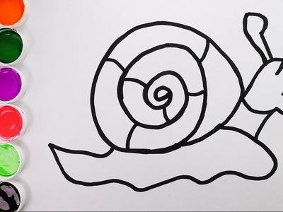 Como Dibujar y Colorear Un Caracol de Arco Iris - Dibujos Para Niños. FunKeep