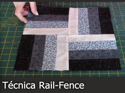 Cómo hacer la técnica Rail Fence (Patchwork) [Tutorial]