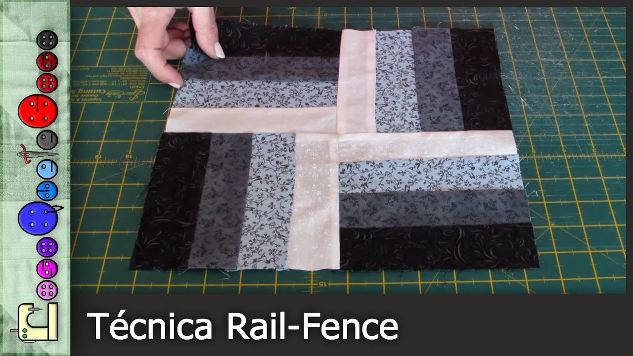 C mo hacer la t cnica rail fence patchwork tutorial for Como hacer patchwork